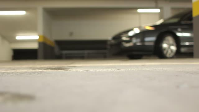 Car pulls up in carpark video