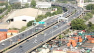 Car running on elevated, Aerial view video