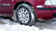 Car skidding in the snow. video