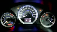 car speedometer video