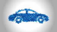 Car Symbol made by Blue Butterflies - Alpha video