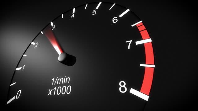 Car tachometer HD. video