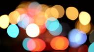 Car Tail Lights Bokeh of New York Traffic video