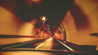 Car through the tunnel video