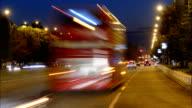 Car traffic on a boulevard in Skopje (time-lapse) video