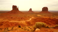 Car Travels Through Monument Valley Navajo Nation Tribal Park video