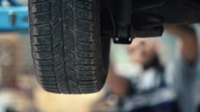 Car tyre replacement 4k. video