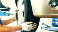 Car tyre replacement. video