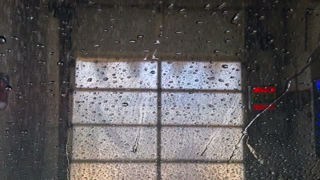 Car Wash as Seen From Inside Car Windshield video