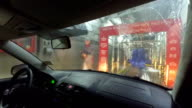 Car Wash. View from Inside. video