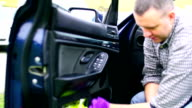 Car washing and cleaning. video
