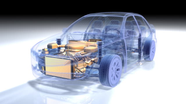 Car  Wireframe  1080p video