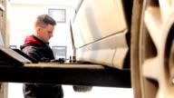 Car workshop (HD) video