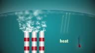 Carbon dioxide in air video