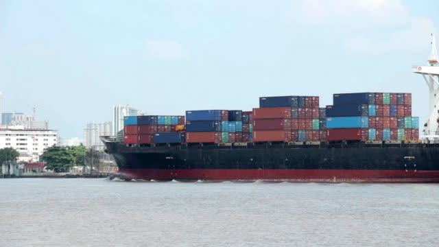 Carco Ship  Passing. video