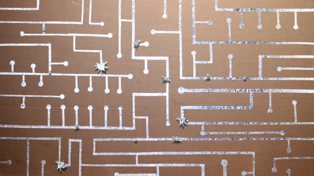 Card And Foil Circuit Board Busy video