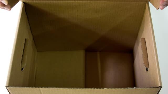 Cardboard box. video