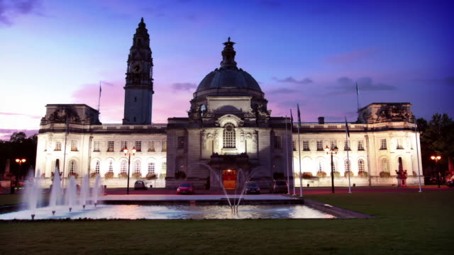Cardiff City Hall, Wales, UK video