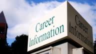 Career Information Sign video