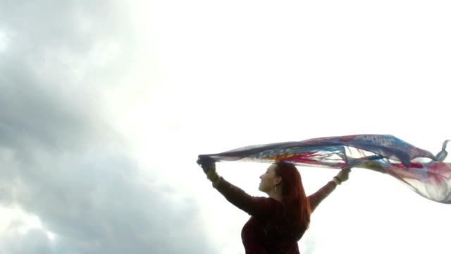 Carefree woman enjoying in life video