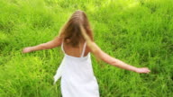 Carefree Woman Enjoying In the Nature video