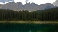 Carezza Lake in Dolomites video