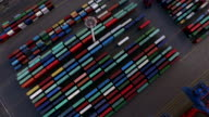 Cargo Container in Hamburg Harbor video