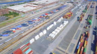 Cargo containers at the port video