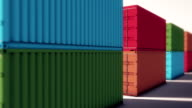 Cargo Containers in loop video
