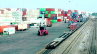 cargo containers-Time lapse video