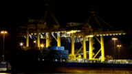 Cargo ship at the port of Bangkok Timelapse video