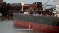 Cargo ship discharging ballast water video