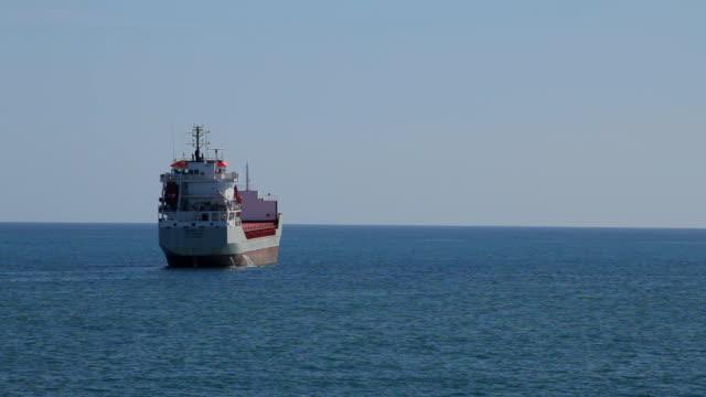 Cargo ship in the sea video