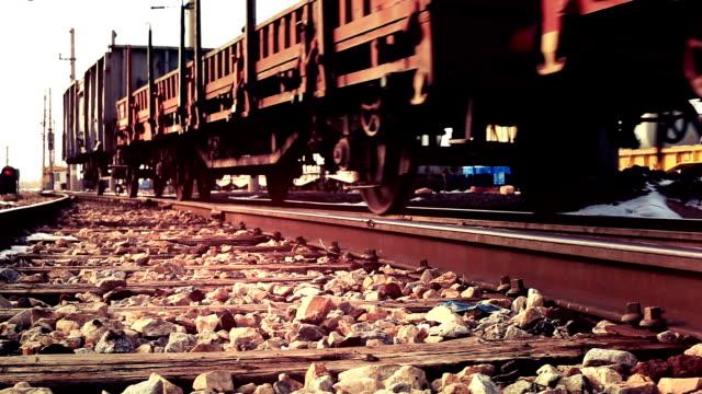 Cargo Train on The Railway video