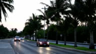 Caribbean street road with cars video