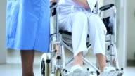Caring African American Nursing Staff Older Female Patient video