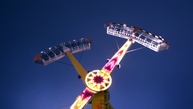 Carnival Ride at Midway (Time-lapse) video