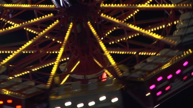 Carnival Ride Spinner at Night HD video