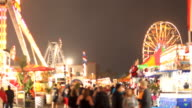 Carnival Rides and Games at Night video