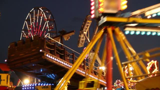 Carnival Rides at night video
