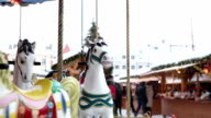 Carousel at the Chrismas market video