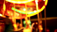 Carousel, circus and Amusement park with kids video