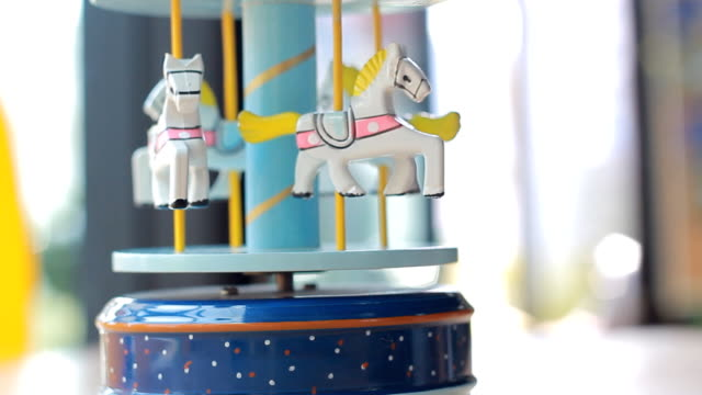 Carousel in coffee cafe video