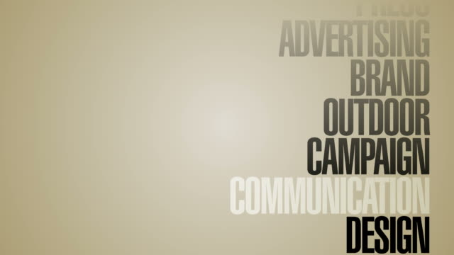 Carousel Of Advertising Words HD video