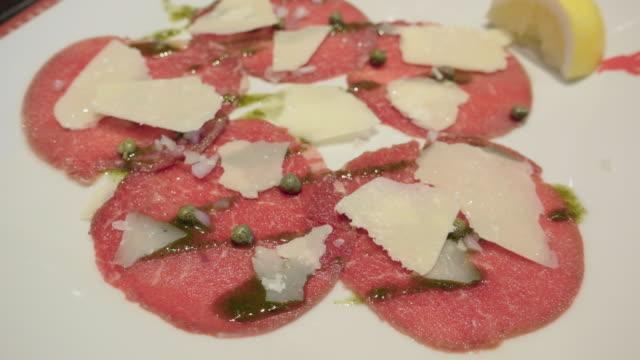 Carpaccio beef video