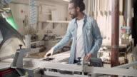 Carpenter At Work In His Workshop video