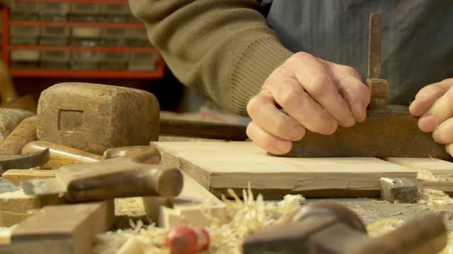 HD SLOW-MOTION: Carpenter At Work video