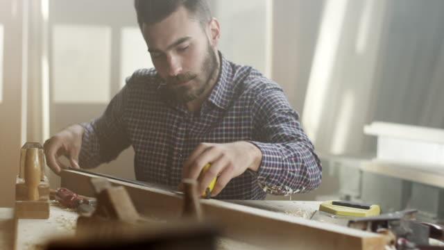 Carpenter at work video