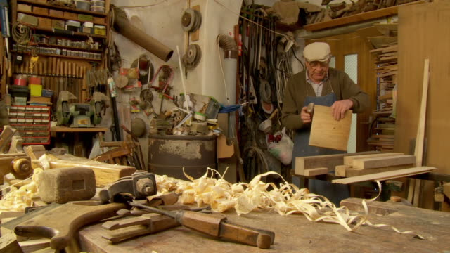 HD DOLLY: Carpenter In His Workshop video