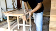 carpenter in workshop video